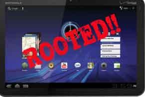Motorola Xoom Rooted