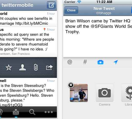 Twitter App iPad2