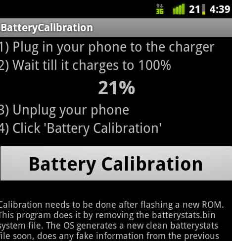 Calibate Android Phone Battery