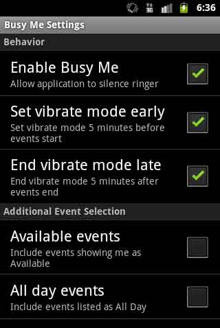 Busy Me Android App