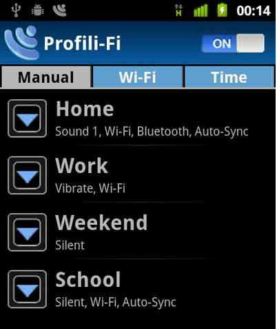 Manage Android Phones Profiles with Profili-Fi app