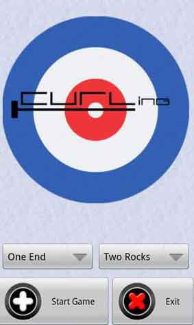 Playing Curling game on Android Phones