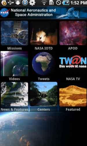 Download NASA Android app