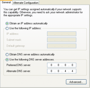 Change DNS Setting on Vista