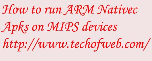 ARM nativec apk on Mips