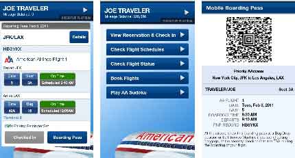 American Airlines Android app