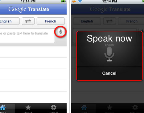 Google Translate App iPhone