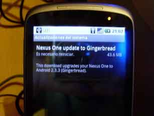 Nexus One update Gingerbread