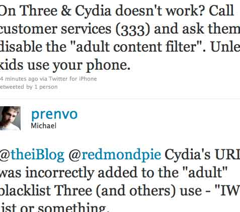 Unblock Cydia Three