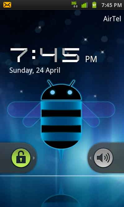 Honeycomb Digital Clock ported on Android phones