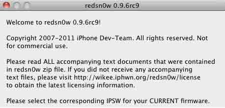 Redsn0w 0.9.6 RC9