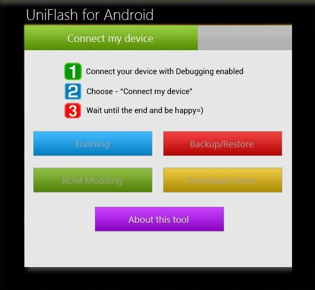 UniFlash-for-Android
